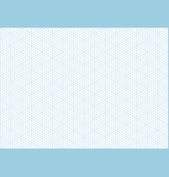 isometric grid graph paper background vector image