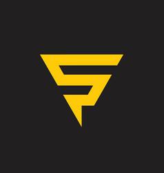 letter s thunder bolt triangle logo vector image