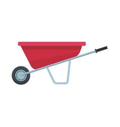 load wheelbarrow cartoon vector image