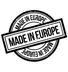 Made In Europe rubber stamp vector image