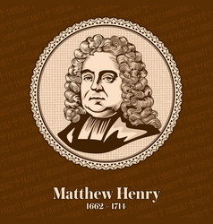 Matthew henry was a nonconformist minister vector