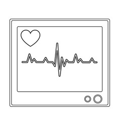 medical monitormedicine single icon in black vector image