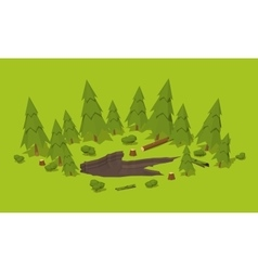 Monster footprint in the forest vector image