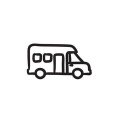 Motorhome sketch icon vector