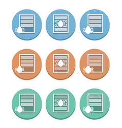Multicolored icons of documents privacy vector