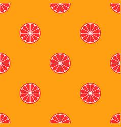 orange fruit seamless bright art pattern vector image