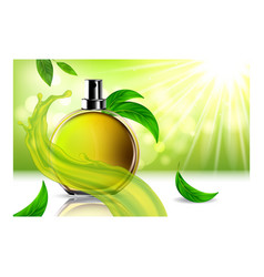 perfume aroma creative promotional poster vector image