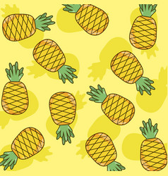 pineapples pattern background vector image