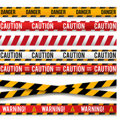 police line caution lines warning tapes vector image