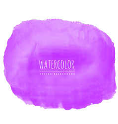 Purple watercolor texture stain background vector