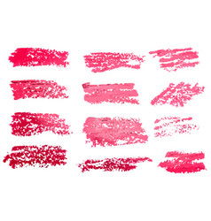 red brush stroke backgrounds paint or ink smudges vector image