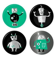 retro robots collection vector image