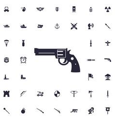 Revolver icon vector