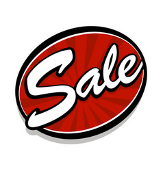 Sale text badge sign vector