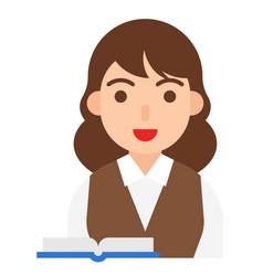 scholar icon profession and job vector image