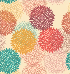 Seamless flower pattern in retro style vector