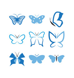 set butterfly icon design template vector image