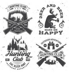 Set hunting club badge concept vector