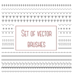 Set of simple brushes vector