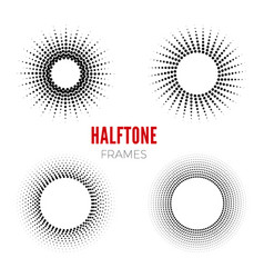 set round halftone frames abstract vector image