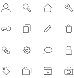 Set simple icons vector image