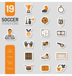 Soccer Icon Sticker Set vector