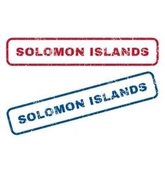 Solomon Islands Rubber Stamps vector