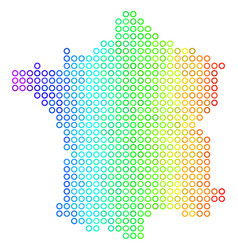 spectrum cirle dot france map vector image