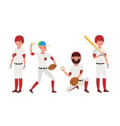 Sport baseball player classic uniform vector