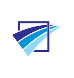 Square abstract arrow business finance logo vector