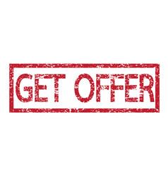 stamp text get offer vector image