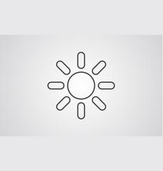 sun icon sign symbol vector image