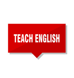 teach english red tag vector image