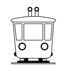 Train wagon frontview icon image vector
