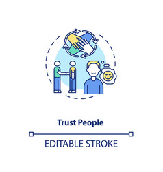 Trust people concept icon vector
