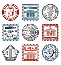 Vintage ancient greek marks set vector