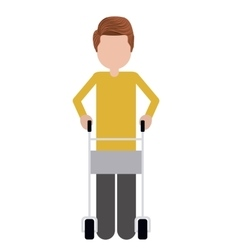 walker for disabled person isolated icon design vector image