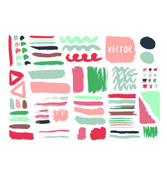 Bright hand drawn textures and brushes with ink vector