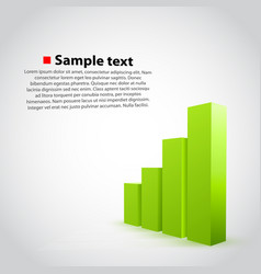 green graph chart background vector image vector image