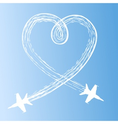 heart in the sky vector image vector image