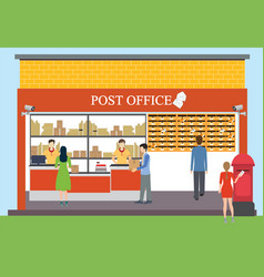 post office vector image vector image