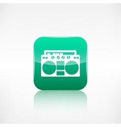 Retro tape recorderApplication button vector image