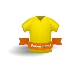 Yellow sports shirt icon cartoon style vector image vector image