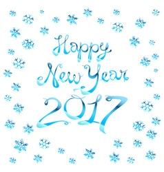 Christmas and Happy New Year Blurred background vector image