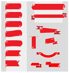 Christmas ribbons banner vector image vector image