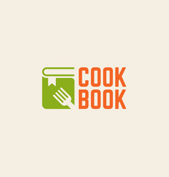 cookbook isolated logo template vector image vector image