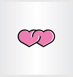love icon heart symbol sign vector image