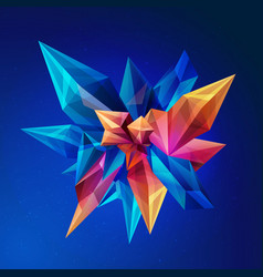 magic crystal crystal asteroid abstract vector image