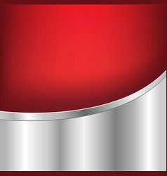 red and silver background vector image