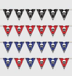 Skeleton bunting vector image vector image